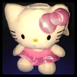 NEW Hello Kitty Plush Coin Bank
